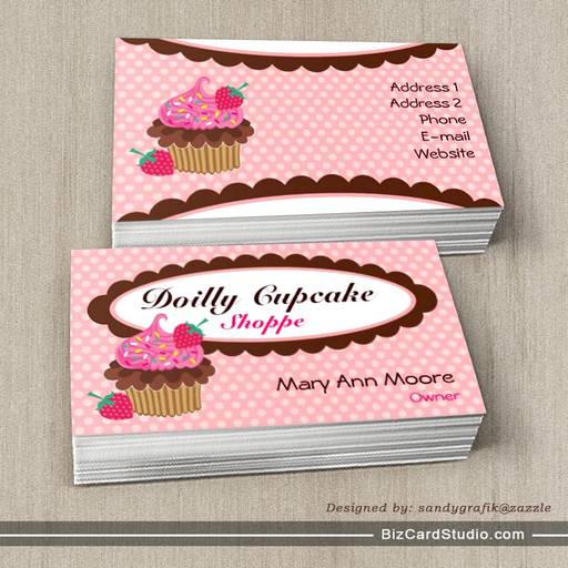 Doilly Cupcake Business Cards