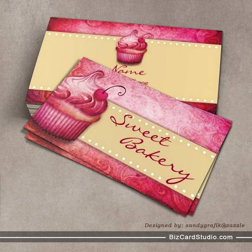 Business card templates studio sweet bakery business cards sweet bakery business cards reheart Gallery