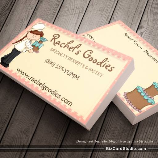 Whimsical Country Baker Business- Profile Card Business Card Templates