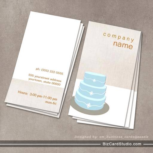 Business Card Templates Studio Pastry Cake Business Card - Cake business card template