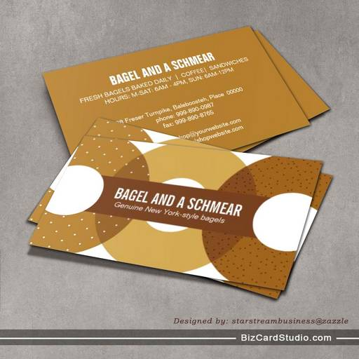 Business Card Templates Studio Big Bagels Business Card