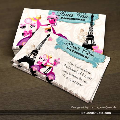 Cupcake cake pops paris eiffel tower business card template bakery cupcake cake pops paris eiffel tower business card template accmission Gallery