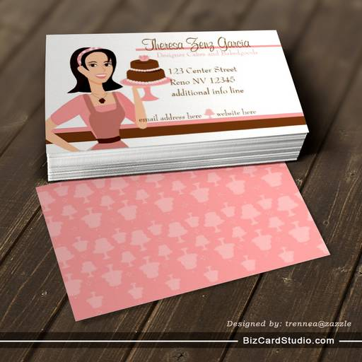 Designer BakedgoodsCake Business Card Template - Cake business card template