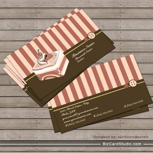 Retro sweet cupcake treat bakery business card colourmoves